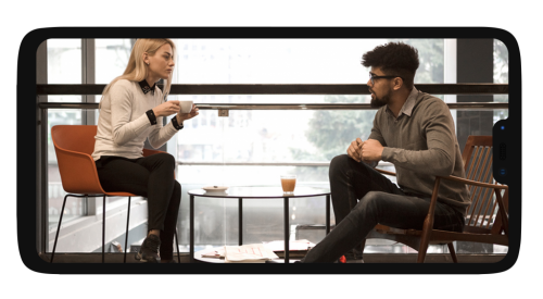 OnePlus Mockup Horizontal Chatting