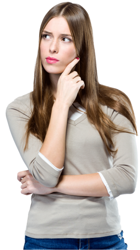 Woman Thinking Looking Left